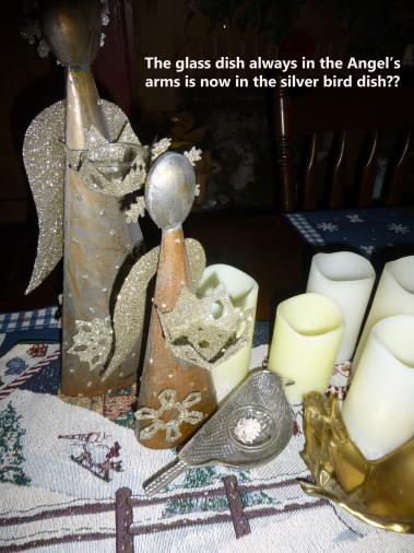 Angel in bird dish
